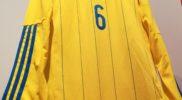 Maglia della nazionale dell'Ucraina (collezione Simone Panizzi, foto Daniele Dei)