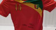 Maglia della nazionale della Guinea (collezione Simone Panizzi, foto Daniele Dei)