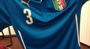 Maglia della nazionale dell'Italia (collezione Simone Panizzi, foto Daniele Dei)