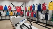 La mostra delle divise da gioco a Pontedera a luglio 2018 (collezione Simone Panizzi, foto Daniele Dei)