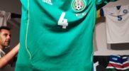 Maglia della nazionale del Messico (collezione Simone Panizzi, foto Daniele Dei)