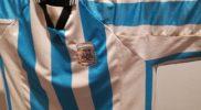 Maglia della nazionale dell'Argentina (collezione Simone Panizzi, foto Daniele Dei)