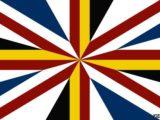 La soluzione più psichedelica. Si aggiunge il giallo e il nero del Galles e si lascia il blu e il bianco della Scozia, ché in fondo farà sempre parte della Gran Bretagna.